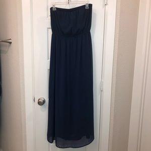 Forever 21 black strapless maxi dress